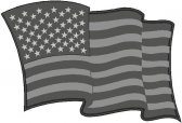 Subdued American Flag Decals