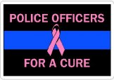 Thin Blue Line For A Cure Decals