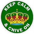 Keep Calm & Chive On Decals
