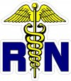 RN Registered Nurse Decals