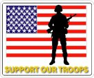 Military Support Decals