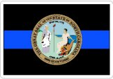 Thin Blue Line State Seal Decals