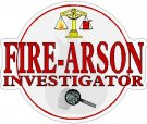 Arson / Fire Investigator Decals